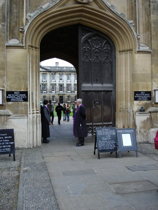 This is the front entrance to the King's College complex, used as an exit.