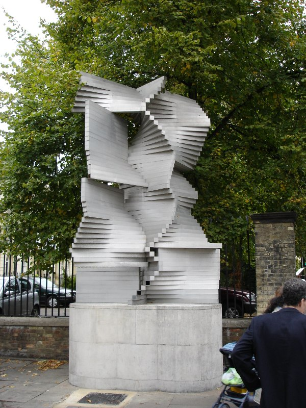 Another piece of art in front of the Deparment of Engineering, University of Cambridge.