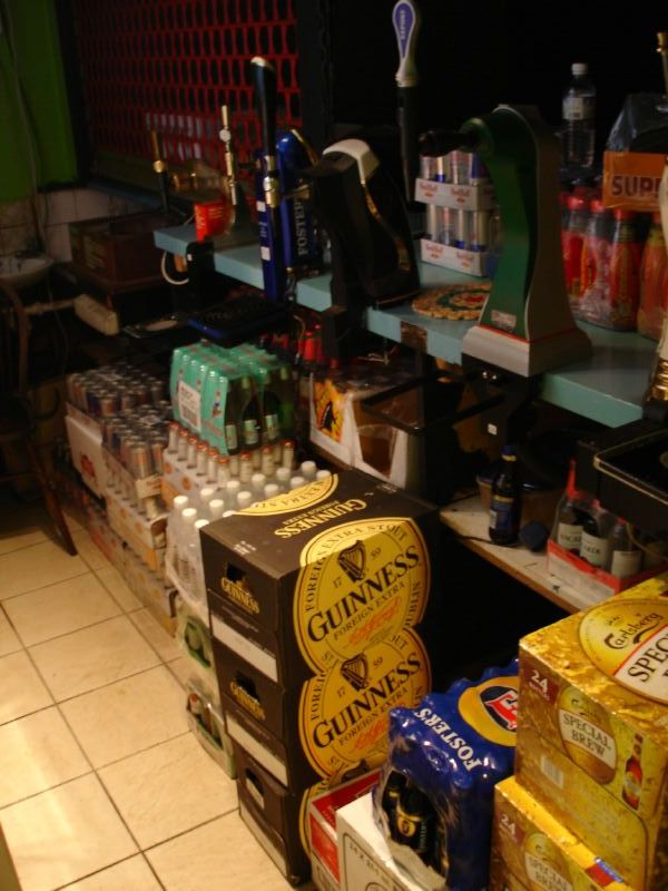This is a so called back bar which is not used very often. They mainly use it for storing drinks and other stuff.